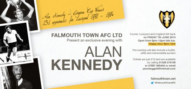 Tickets still available for 'An Evening with Alan Kennedy' at Bickland Park