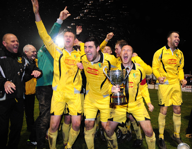 Bodmin Town beat Helston Athletic in a pulsating final at Treyew Road to claim the Cornwall Senior Cup last season