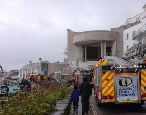 Fire at Tate St Ives