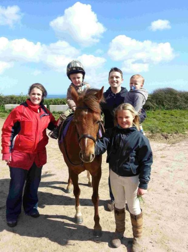 Falmouth Packet: Horse riding 10-year-old raises cash for toddler