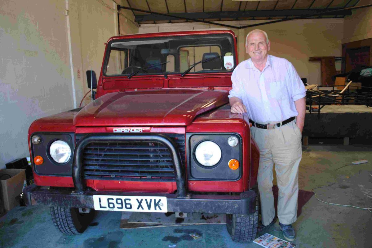 Tony with his trusty 21-year-old Land Rover Defender 110