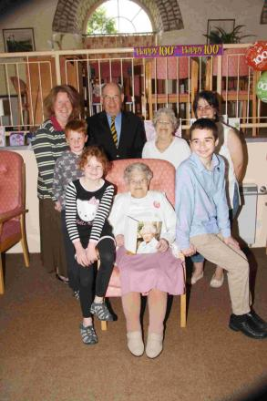 Helston woman's 100th birthday surrounded by family and friends