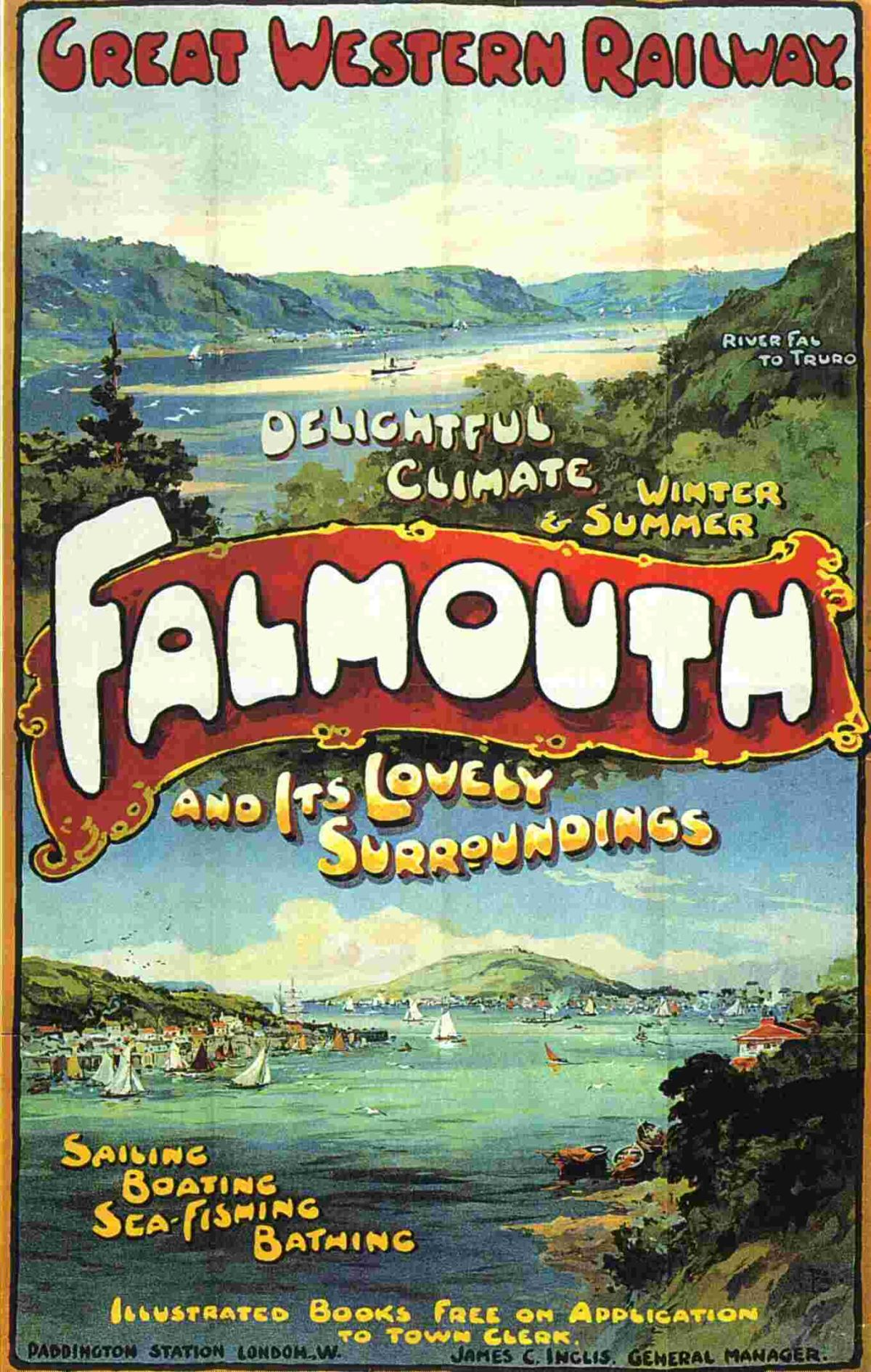 An early GWR poster promoting Falmouth
