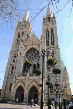 Truro Cathedral is open for worship despite masonry fall