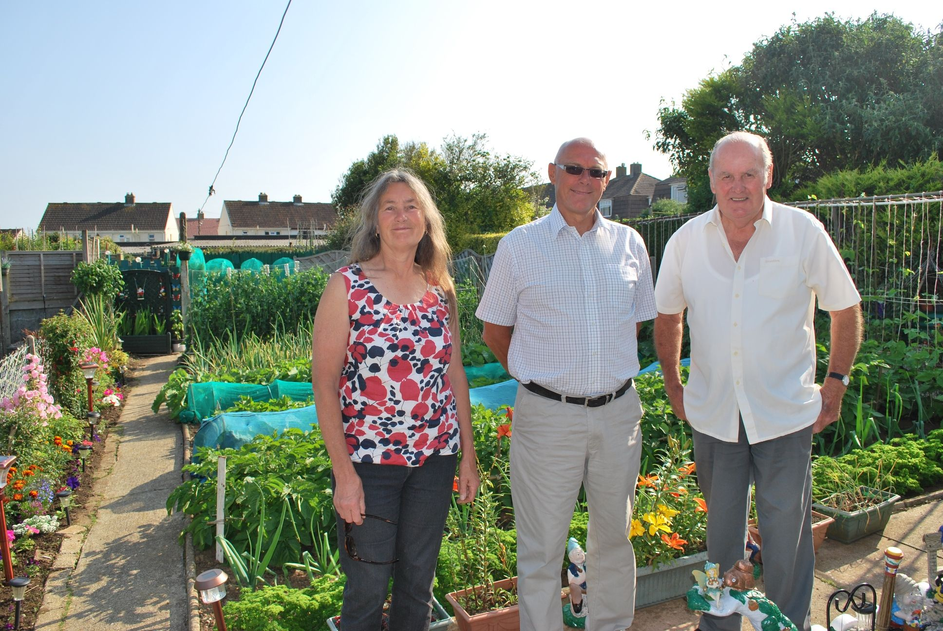 – Donald Tippett of Camborne wowed the judges with his impressive vegetable garden.