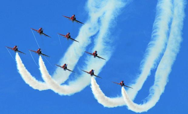 Red Arrows to fly over Falmouth twice in three months