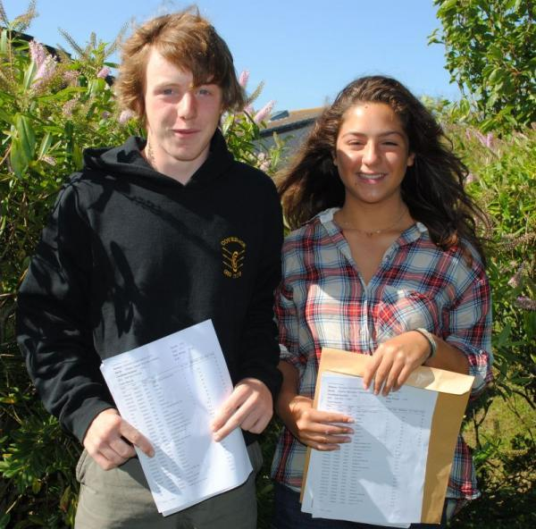 Falmouth Packet: Joseph McCabe and Ellie Tregoning were among the highest achieving students at Mullion