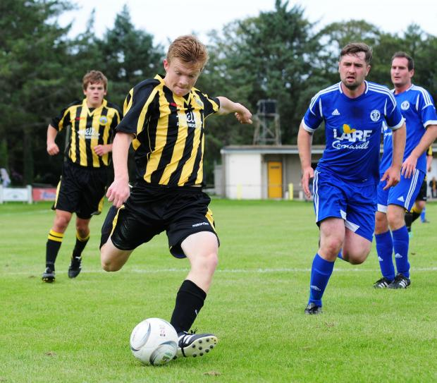 Jordan Annear scored Porthleven's fourth goal away at St Dennis on Saturday
