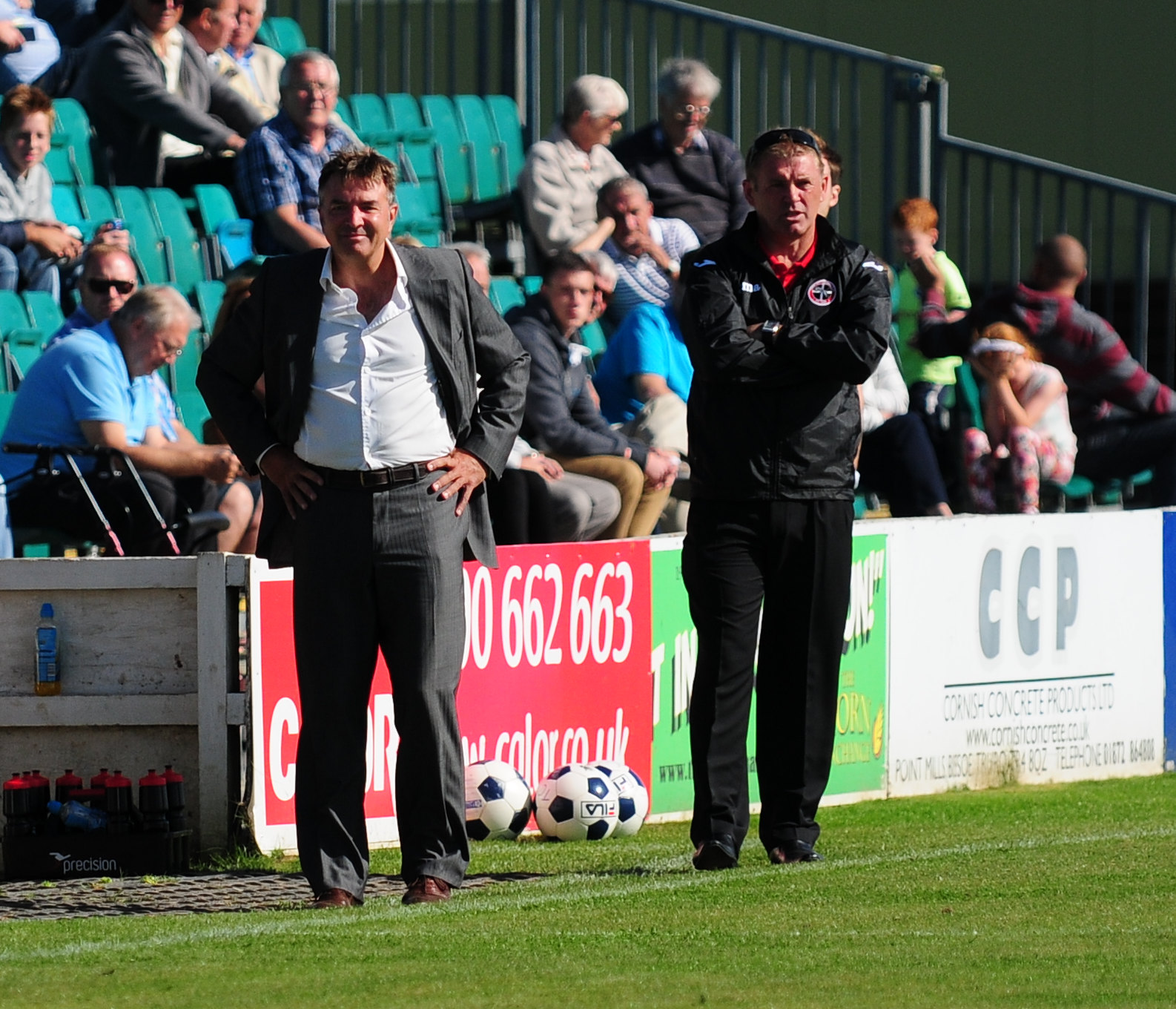 Steve Massey (left) and Graham Kirkrup have been sacked by Truro City, along with Glynn Hooper.