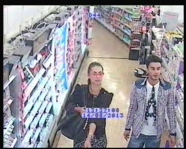 CCTV of Falmouth Superdrug shoplifting suspects