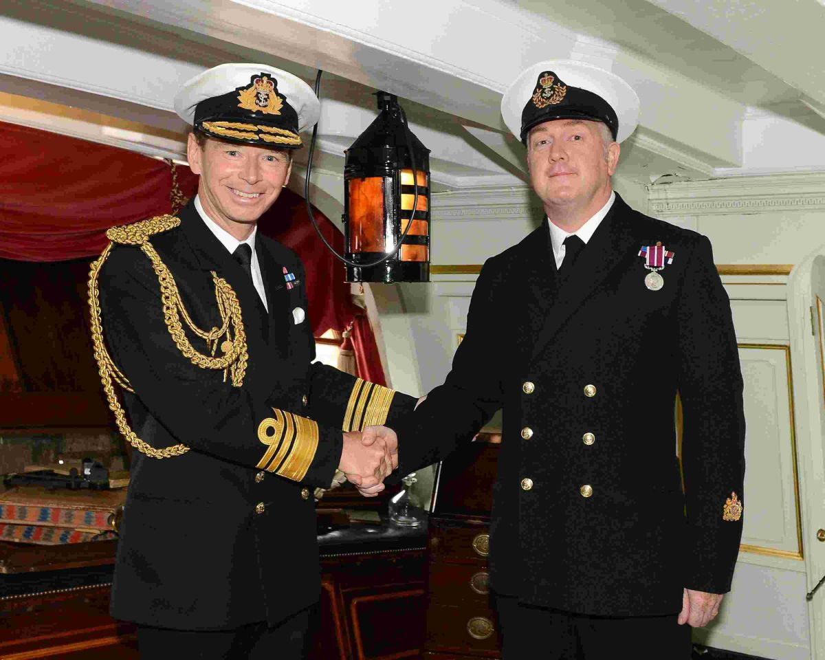 Culdrose warrant officer honoured at Nelson's cabin ceremony