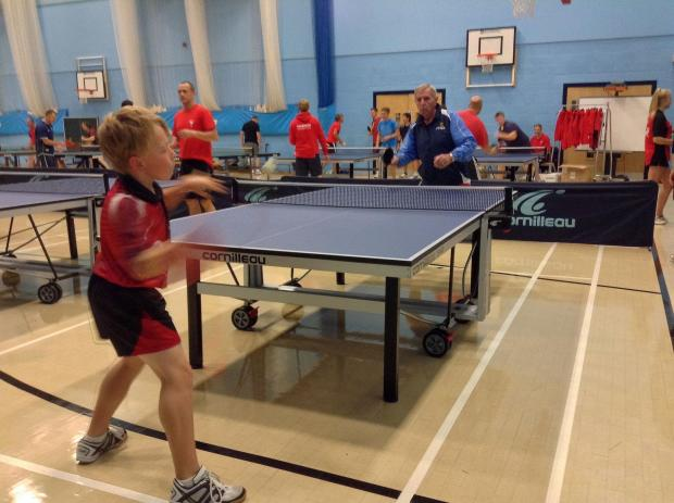 Dee and Dylan in top form as Falmouth School hosts Cornwall Schools Table Tennis Championships