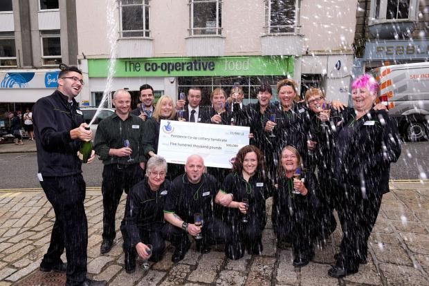 Falmouth Packet: Penzance lottery winners to spend jackpot on new front door