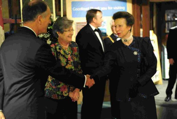 Princess Royal attends Maritime Musuem fundraising auction in Falmouth