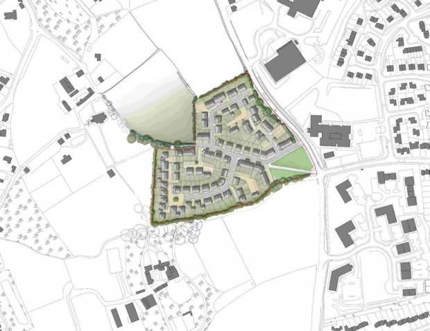 Bid to build 154 homes on Bickland Water Road