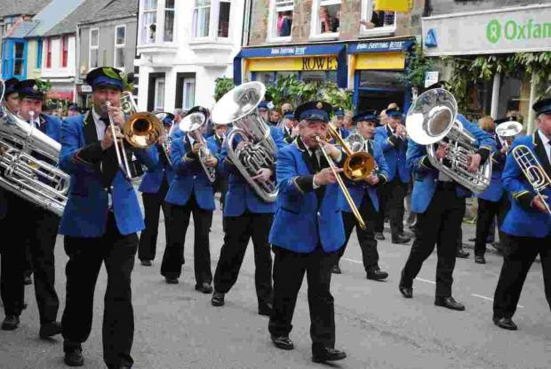 Helston Town Band record Flora Dance on CD