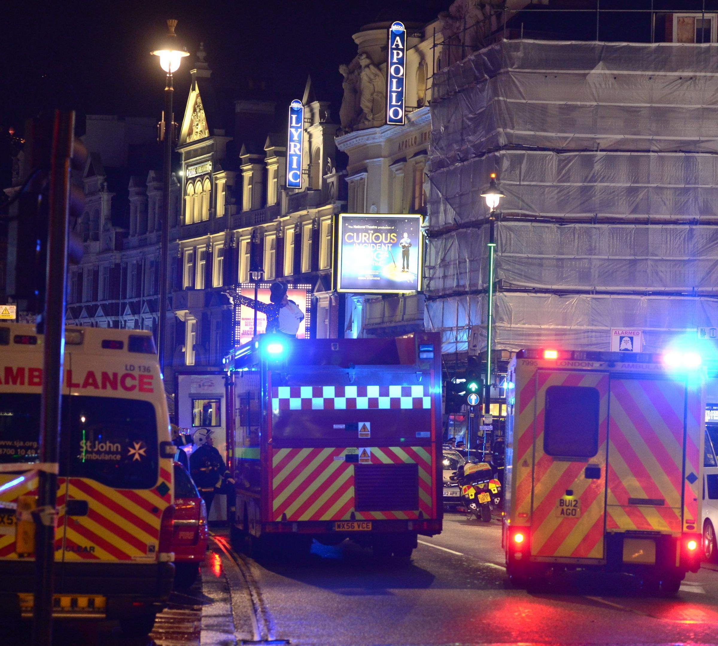 Helston students in London at same time as Apollo theatre roof collapses