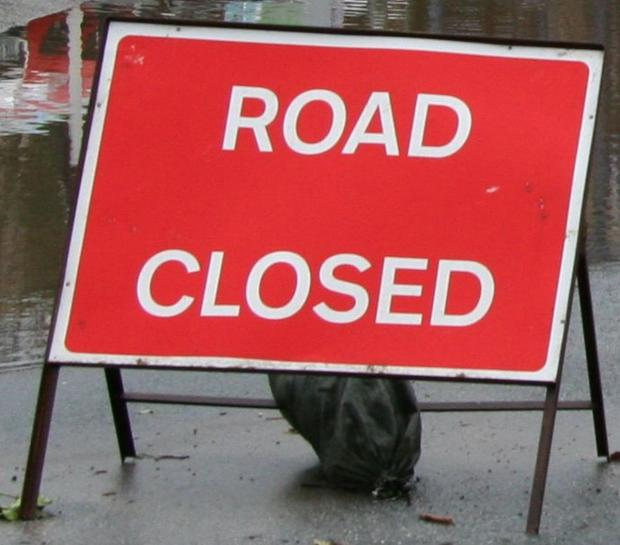 Dangerous fir trees cause road closure in Penryn on B3292