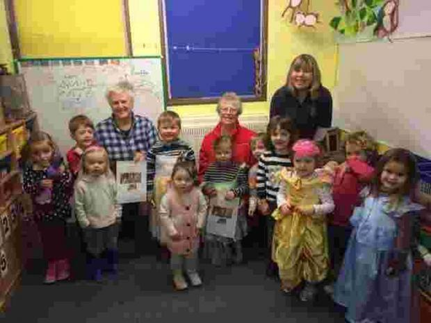 Halwin Pre-school pupils say thanks for the new heaters