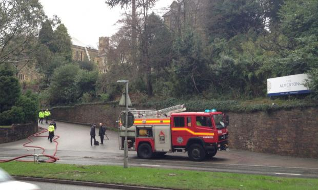 Reports of fire at Alverton Manor Hotel in Truro