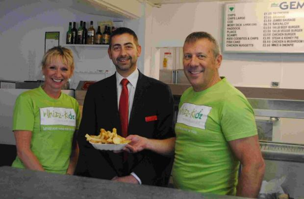 Falmouth fish bar funds for Whizz-Kidz charity