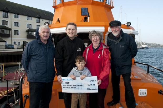 Generous donation to Falmouth RNLI
