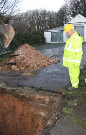 Hole that opened up on main Helston to Penzance road is old mineshaft