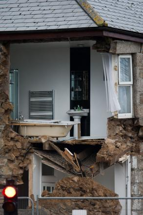 House collapse in Camborne: PICTURE