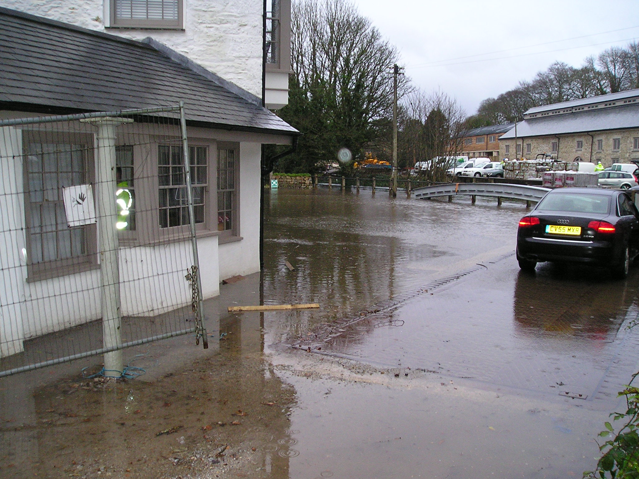 Flooding at Perran Foundry