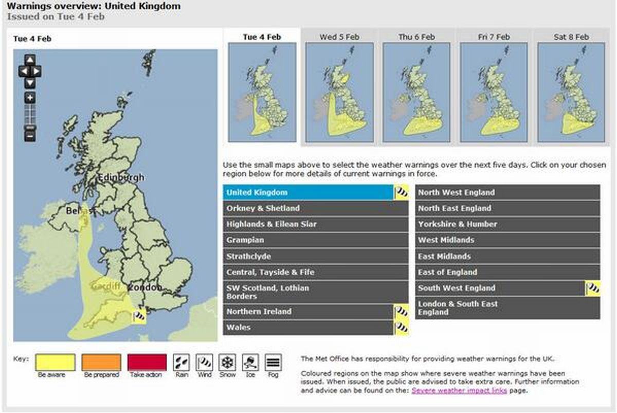 Five days of weather warnings as Cornwall faces onslaught of rain and gales