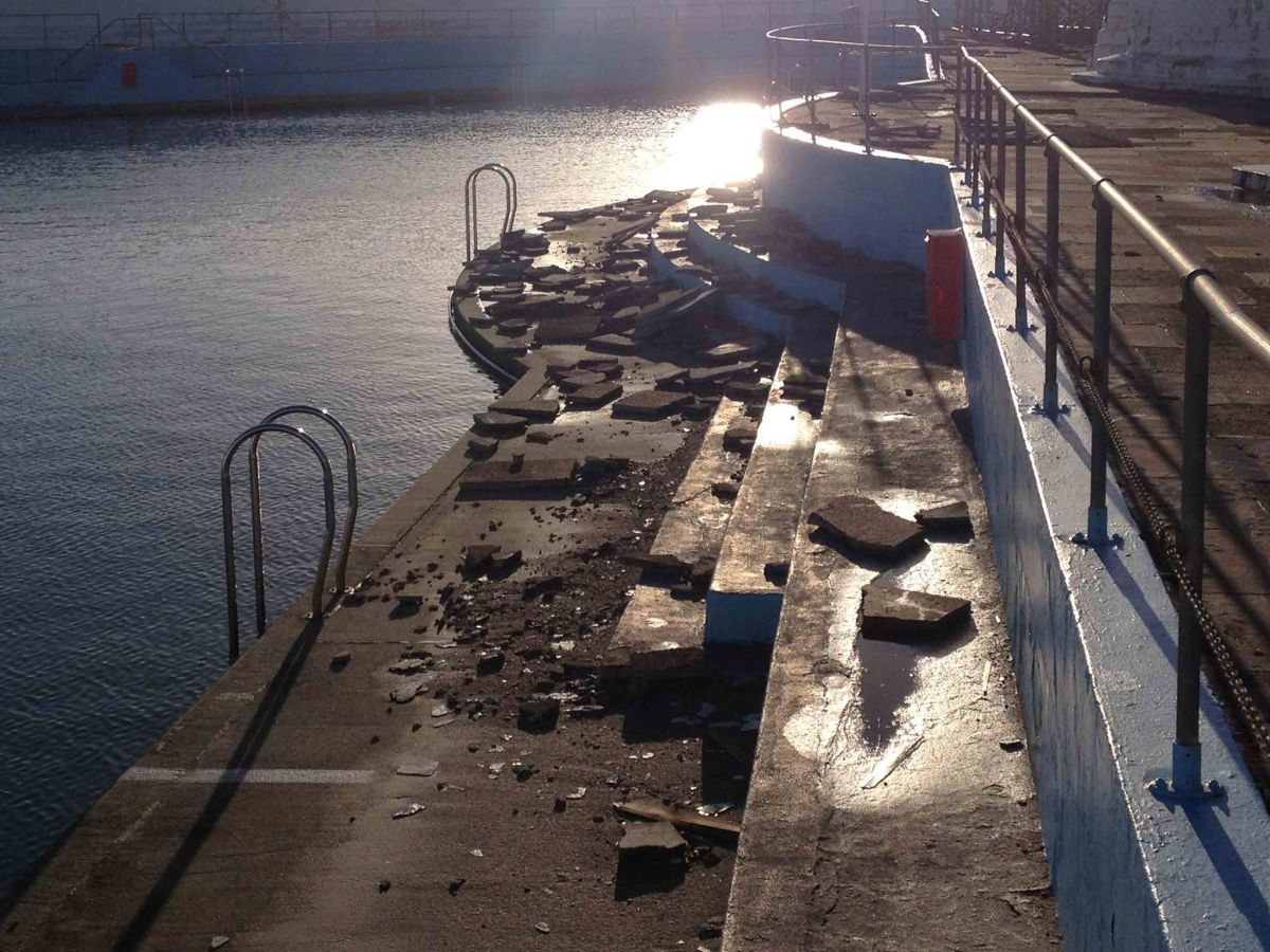 Fears as Jubilee Pool in Penzance suffers 'serious structural damage'