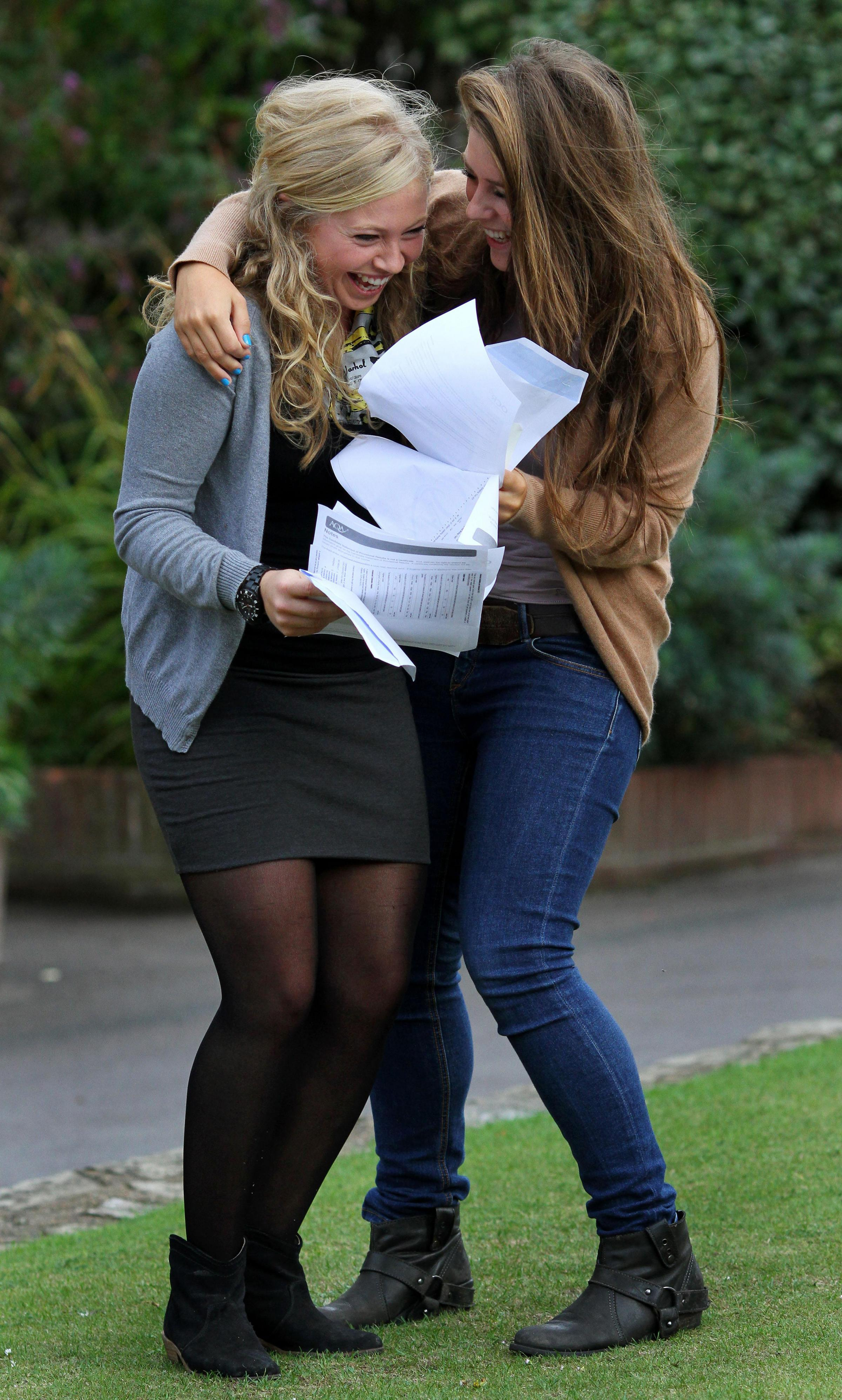 Students picking up A-level results today