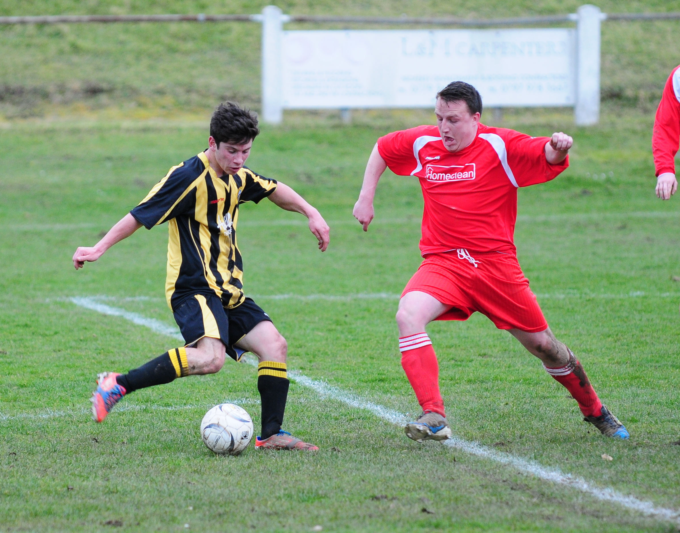 Port's Kyle Frasier takes a shot from the edge of the box. Picture: Phil Ruberry