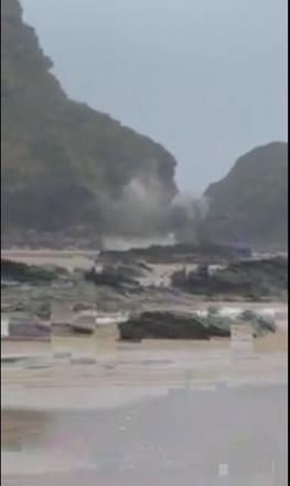 Old bomb blown up at Watergate Bay: VIDEO