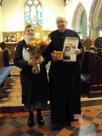 Mabe bids fond farewell to clergyman