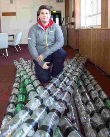 Falmouth marine student is all at sea on boat made from bottles