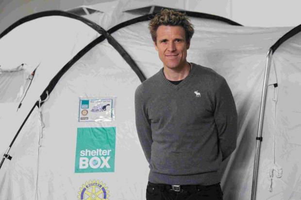 Olympic rower lends support to ShelterBox