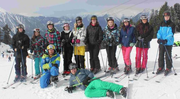 Mullion pupils hit the slopes: PICTURES