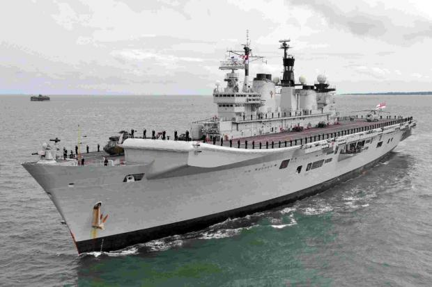 Nine Merlins from RNAS Culdrose in Helston will join HMS Illustrious