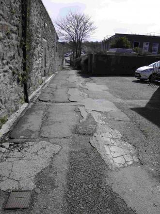 Helston councillor stakes his claim to 'grotty' lane in bid to get work done