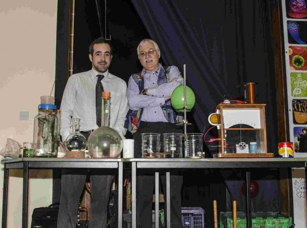 Whizz, fizz and a bang as Helston College hosts science show