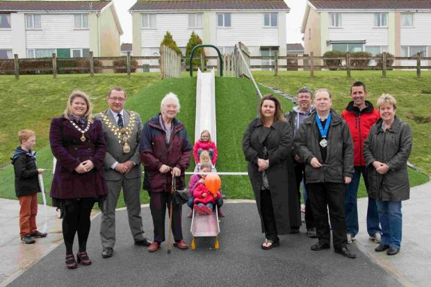 Kids' delight as new Helston play equipment opens