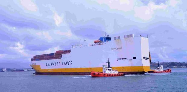 56,000 ton Grande America enters dry-dock in Falmouth: PICTURE