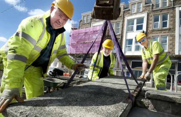 Temporary repairs to storm damaged Penzance prom in time for Easter: PICTURES