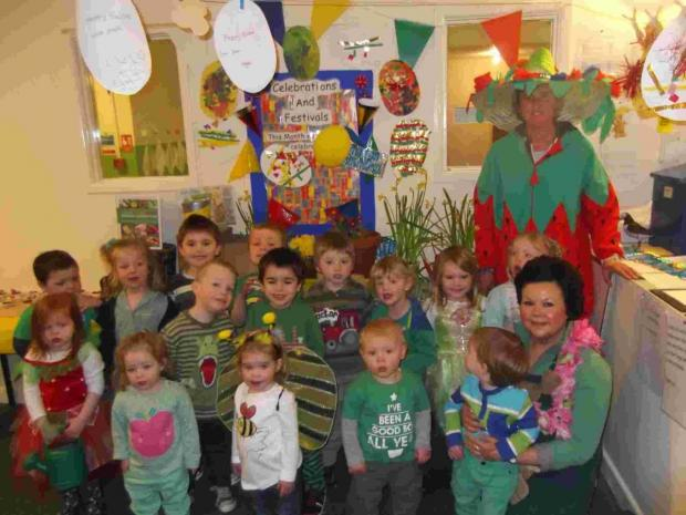 Helston nursery youngsters enjoy a 'green day'