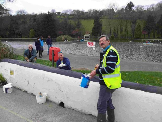 Falmouth Packet: Rotary club members paint the town white in Helston