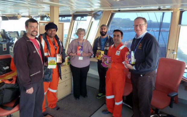 Easter treat for seafarers in Falmouth