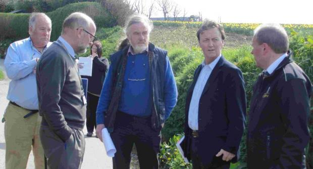 West Cornwall MP inspects flooding at beauty spot