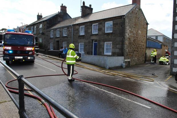 Gas leak closes main road into Helston - PICTURES