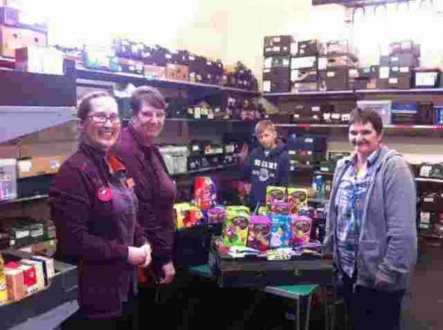 Falmouth supermarket shoppers help with Easter egg donations